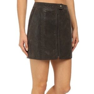 Free People Get Into The Groove Skirt Faux Leather